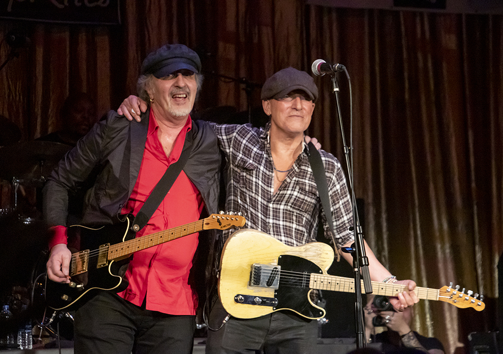 Joe Grushecky with Bruce Springsteen (photo credit: Conni Freestone)